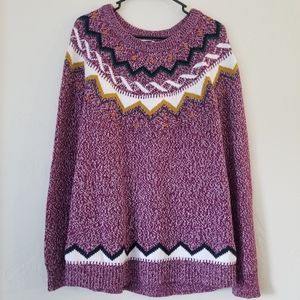 Pattern thick sweater